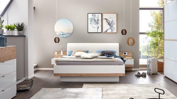 Interliving Schlafzimmer Serie 1010 - Doppelbettgestell mit Nachtkonsolen